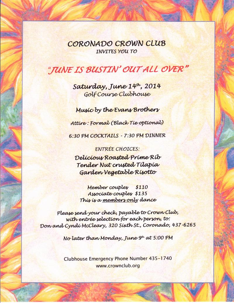 My business june 14 dance thank you to the june dance committee for a fun and elegant dance stopboris Gallery